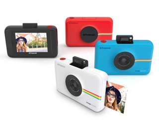 🚚 (免運)Polaroid SNAP TOUCH 觸控拍立得-白色(公司貨+九成全新無刮痕)-加送專用相印紙60張&64G記憶卡&相機包