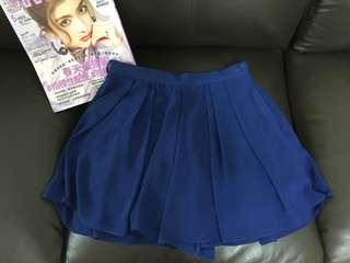 $30🎀 寶藍色雪紡短裙(內有打底)