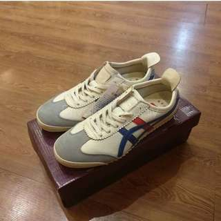Onitsuka Tiger Mexico 66 Deluxe Cream Blue Red