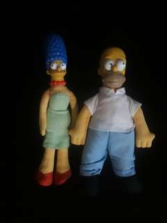 Homer and Maggie Simpson