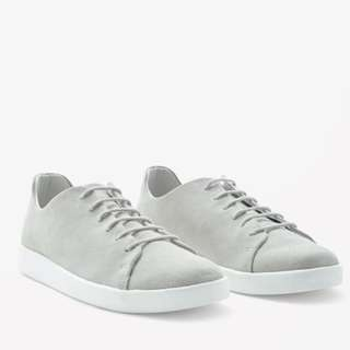 Cos Grey Suede Lace Up Sneakers