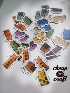40pcs Multicolor Tall Cat Sticker Pack