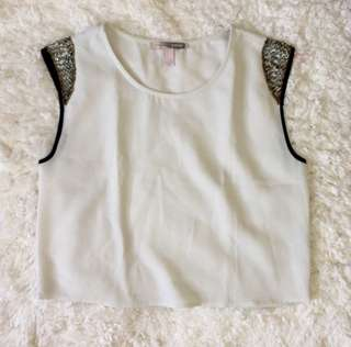 Forever 21 Sequinned Sleeves Top