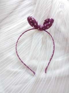 🚚 甜美日系蝴蝶結點點髮箍