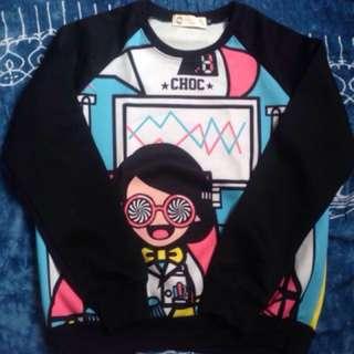 Cartoon printed sweatshirt