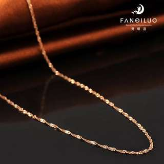 18 Inch S925 Rose Gold Plated Necklace