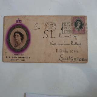 Straits Settlement Singapore First Day cover