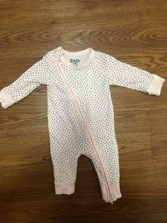 Newborn Baby Cotton On Sleepsuit