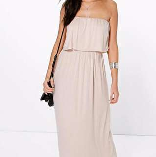 New strapless maxi dress