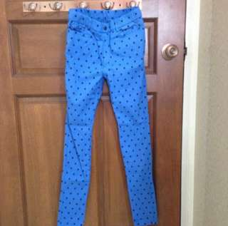BNWT Starry Jegging Pant in Blue