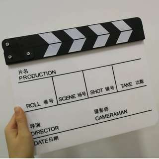 Acrylic Clapperboard