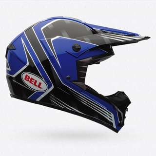 Bell Race Men's SX-1 SX 1 SX1 SIZE MEDIUM ONLY MX Motorcross Motor Cross Motorcycle Motorbike Off Road Motorcycle eScooter e Scooter Electric Scooter Helmet - Blue