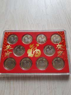 ⭐⭐ Yr 's2018 China ¥10×10pcs Commemorative Coin set⭐⭐