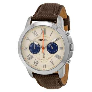 GRANT CHRONOGRAPH WHITE DIAL BROWN LEATHER MEN'S WATCH FS5021