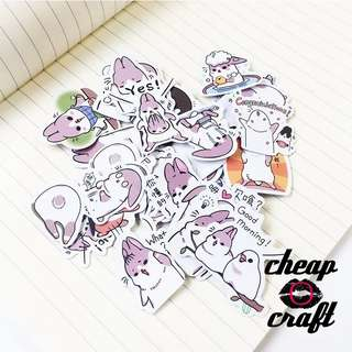 40pcs Chubby Rabbit Sticker Pack