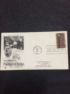 US 1967 Purchase of Alaska FDC stamp