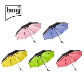 Boy BY3005 三折防曬摺疊雨傘-5色