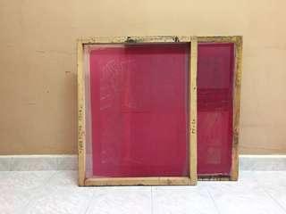 4 silkscreen frames