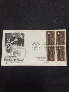 US 1967 Purchase of Alaska Blk4 FDC stamps