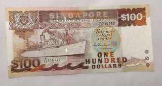 Singapore Old $100 Ship Series