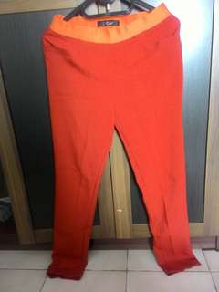 Orange brownie pants