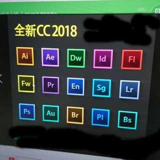 ADOBE CC~2018. PHOTOSHOP, A.I.等功能。