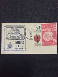 US 1967 Interpex Postal Cover