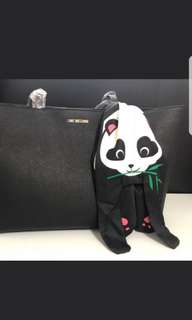 Love moschino black tote with scarf