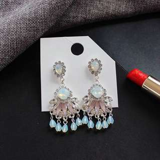 E17 Diamond Statement Drop Earrings