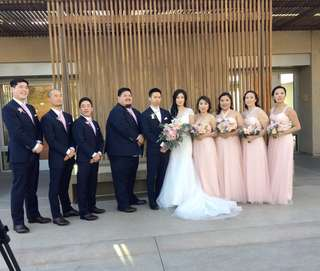 Bridesmaid High Quality Pink Tulle Long Dress