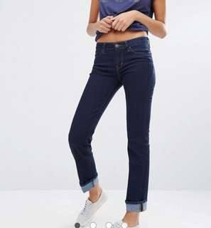 Levi's mid waisted denim jeans
