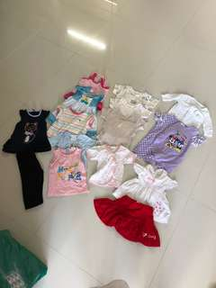 [Preloved] (0-12M) Baby Girl Clothes In Bundle
