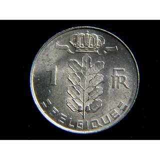 1975年比利時王國(Kingdom of Belgium)豐收女神1法郎(Franc)鎳幣(好品)