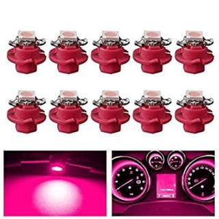 T5 5050 1SMD Car LED Dashboard Dash Gauge Instrument Light PINK