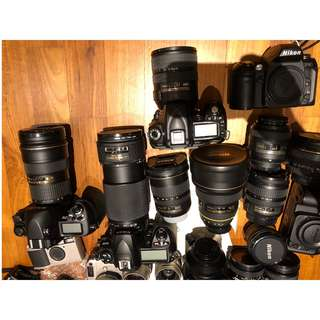 Various Cameras & lenses for clearance