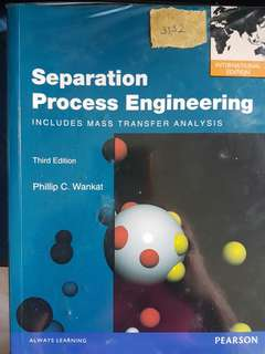 CN3132 - Separation Process Engineering 3rd edition