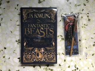 Fantastic Beasts and Where To Find Them Book with Pen
