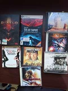 Diablo, solar empire, movie cd