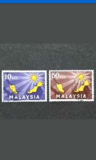Malaysia 1963 Inauguration Of Federation Loose Set Short Of 12c - 2v Used Stamps #1