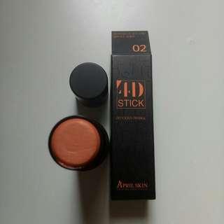 April skin - 4D stick(orange)  $15