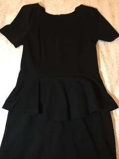 Peplum LBD Little Black Dress