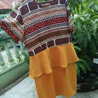 Peplum ethnic dress BIGSIZE