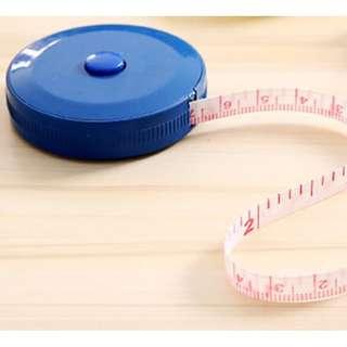 自動伸縮型軟卷尺量衣尺 藍色