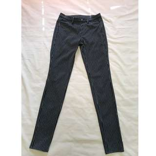 UNIQLO Legging Pants (Black w/ White stripes)