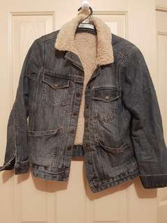 Topshop sherling denim jacket