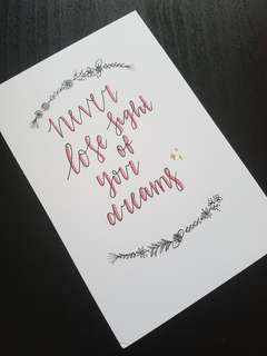 Calligraphy Motivational Quotes on Cards