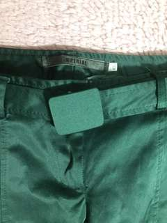 Silk Green Cropped Pants