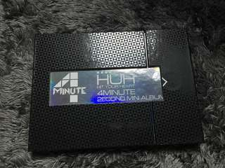 Kpop Album 4Minute - Second Mini Album (HuH)(RARE)
