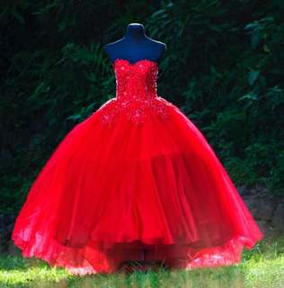 Red Balloon Gown