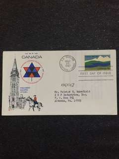 US 1967 Canada Centenary FDC stamp